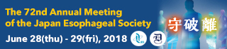 The 72nd Annual Meeting of the Japan Esophageal Society
